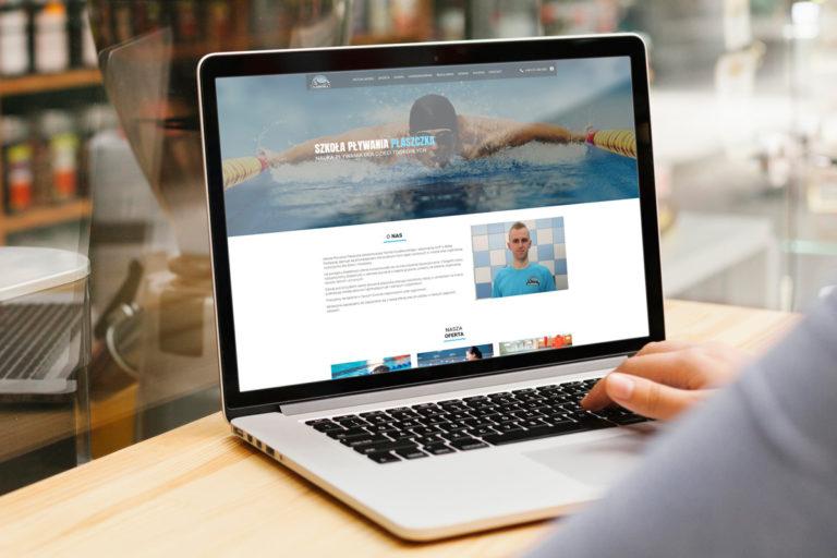 rainbow multimedia strona www wordpress szkoła pływania płaszczka