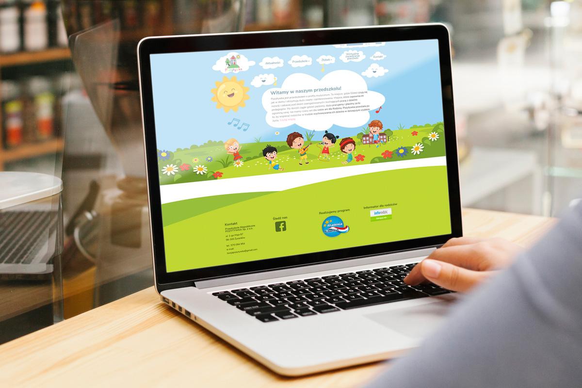 rainbow multimedia portfolio strona www pozytywka przedszkole żyrardów wordpress