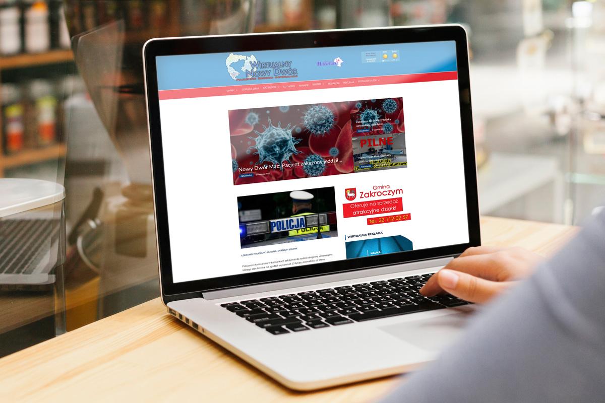 rainbow multimedia portfolio strona www wirtualny nowy dwór